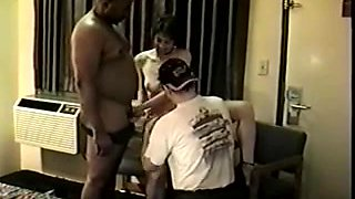 Dirty wives slammed by a black guy and their hubbies