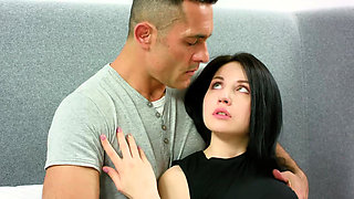 Kissing teen Emily Insomnia loses virginity on a casting