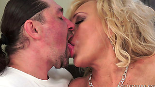 Blonde Mature Magdi Gets a Cockload