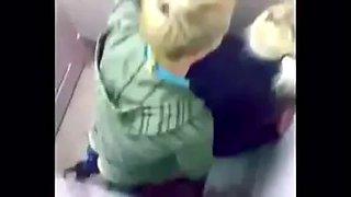 Couple caught fucking in the school bathroom