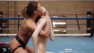 Ariel X & Mackenzie Moss in Lesbian Strap-On Bosses 4 Scene 1 - SweetHeartVideo