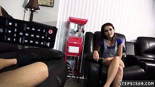 Teen girl flashing webcam Sucking Stepbros Banana