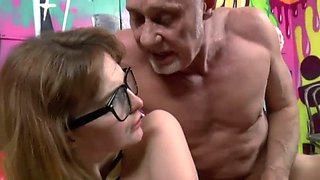 busty ginger schoolgirl abused  &  ass fucked by old man