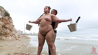 Thick Bitch In Abused Hard - Bbw Rough Gangbang