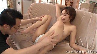 Ayumi Kimino hot Asian milf gets pussy banged