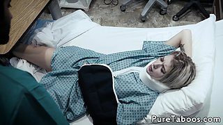 Inked teen creampied in the hospital