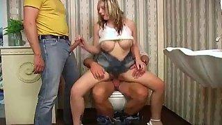 Ajx boobs forced in bathroom 3
