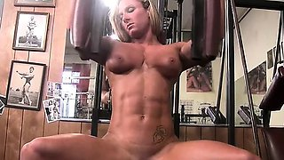 Darkside Milinda Masturbates in the Gym