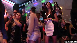 Its go time for the strippers as the horny housewives flood the club.