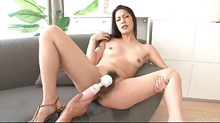 Japanese cutie Ishiguro finds her pussy touched and toyed