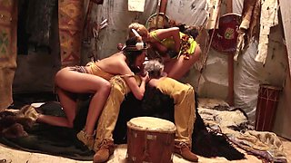 Sexy Indian chick and a fairy are in a hot threesome, fucking