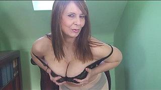 Busty Milf Alexa Strips Naked