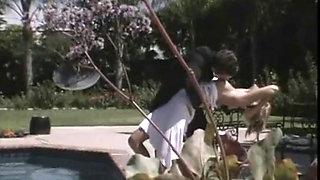 Jessica Drake poolside