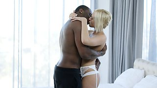 Cheating Blonde Wife Fucks Husbands Black Friend