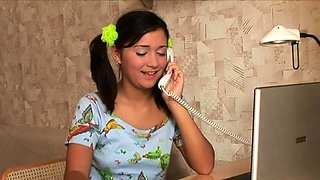 Goluptious russian young chick adores blowjobs