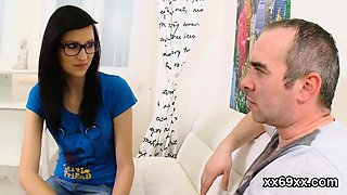 Doctor watches hymen examination and virgin teenie drilling8