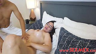 Horny latina fucks her nephew