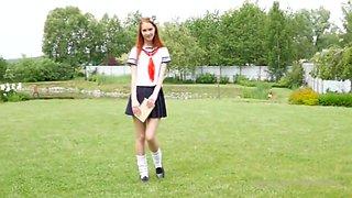 Nice Cute Slim Teen Girl Raisa At Home Cosplay
