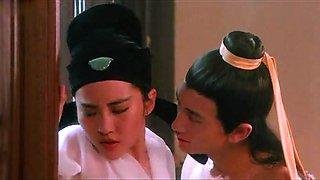 Amy Yip,Mari Ayukawa,Isabella Chow,Tomoko Ino in Sex And Zen (1992)