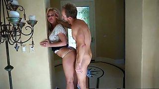Drunk MILF Cherie DeVille Creampied and Showered in Cum