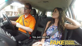 Fake Driving School Posh cheating babe with great tits