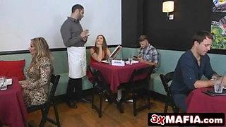 Backstabbing Girlfriend Dani Daniels Fucks a Waiter
