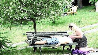 Hot 22yo fatty facesitting a guy by the pool
