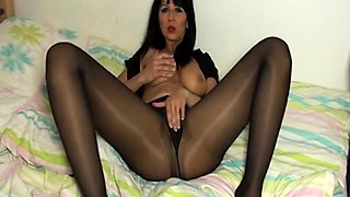 Carolin makes you hot in her sexy shiny Pantyhose