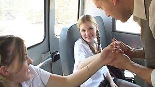 2 Hot Teens Fucked On The School Bus
