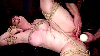 A plump goddess of a slut gets punished in the dungeon
