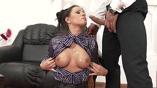 Best pornstar Athina Love in exotic facial, big tits porn clip