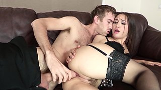 French maid Gabriella Paltrova ass fucked by a monster cock