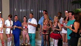 Nurses are having a wild swinger orgy!