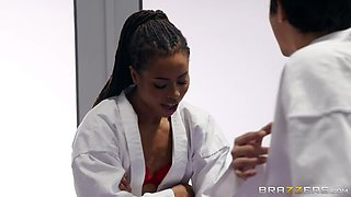 Karate Kutie Kira Noir Smashes Ricky in every which way