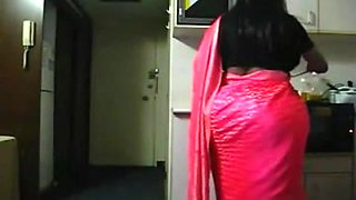 Spying Indian Aunty in the Kitchen - Big Butt Voyeur