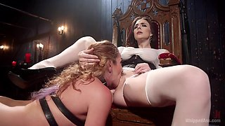 Chanel Preston & Savannah Fox in Mistress Chanel Preston's Squirting Submissive Lesbian Sex Slave - WhippedAss