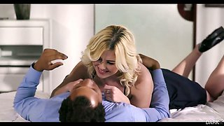 BBC fucks sensual blind folded blond babe Summer Day