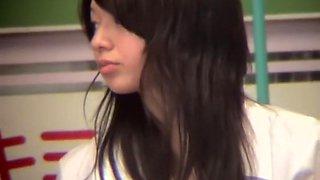 Asian vixen on the exciting schoolgirl upskirt video 749