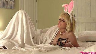 Blonde Stepsister Filled during Easter Egg Hunt