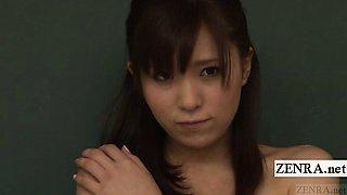 Subtitled ENF CMNF shy Japanese nudist English teacher