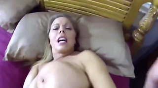 Chubby drunk stepmom with huge tits gets big cock in tight pussy!