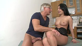 Christoph Clark is banging brunette Rosalina Love