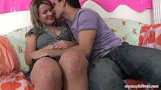 Chubby Russian teen porn chick Lisa is seduced by horny teacher