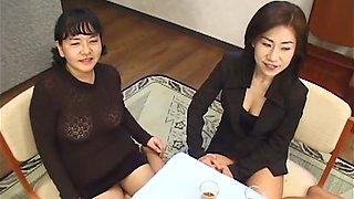 Hottest Japanese model in Best Uncensored, Lesbian/Rezubian JAV clip