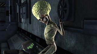 Hot 3D Alien Babe Gets Fucked by a Martian