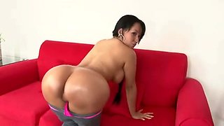 Big tits Latina gets ploughed and facialized