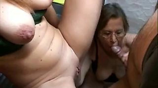 Lucky plumber fuck mother & daughter