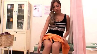 Beautiful Japanese girl has a horny doctor plowing her pussy