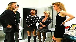 Sex is more fun in groups! In this retro video we get to