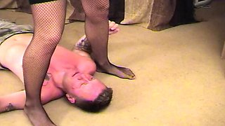 Slave tongues mistress pussy deeply and rims ass
